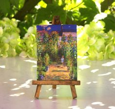 Monet Table Canvas on Easel by ForMomentsinTime on Etsy