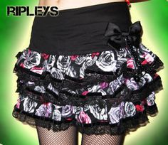 Hell bunny black rose skirt