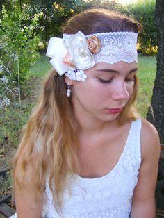 Bridal  Fascinator  Bridal Flower Hair  piece by ArtEraBridal