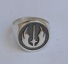Star Wars Jedi Order Insignia on wood Rebel Ring by vikigreen