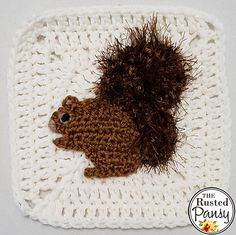 Ravelry: Squirrel Applique pattern by The Rusted Pansy--free on blog