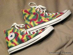 2bebc4748141 Converse Sneakers Men size 10 HiTop Tie Dye Rasta by MrTieDye Converse Shoes  Men