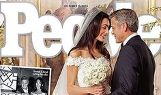 george clooney wedding pictures | George Clooney and Amal Alamuddin's first wedding pictures have been ...