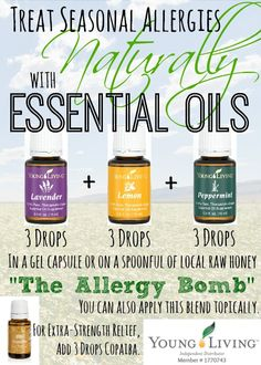 Check out this testimonial for using essential oils to alleviate seasonal allergies. #youngliving