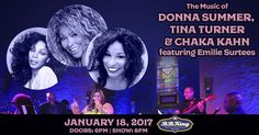 The Music of Donna Summer, Tina Turner & Chaka Kahn w/ Emilie Surtees - http://fullofevents.com/newyork/event/the-music-of-donna-summer-tina-turner-chaka-kahn-w-emilie-surtees/