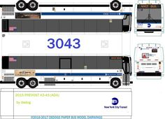 2015 prevost X3-45 (ADA) (dedogs paper bus model darwings) Tags: prevost mta 2015 nyct bus dedog Paper Toys, Paper Crafts, Lehigh Valley, Rolling Stock, Racing Team, Jumping Jacks, Paper Models, Ho Scale, Card Stock
