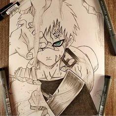 Otaku Anime, Anime Naruto, Fan Art Naruto, Naruto Gaara, Naruto Shippuden Anime, Sakura Kakashi, Manga Anime, Naruto Sketch Drawing, Naruto Drawings