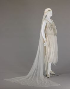 Wedding dress with veil, 1920, by George Philip Meier. From the collections of the Indianapolis Museum of Art.