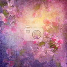 Malba jarní květinové umění na obrazech myloview. Nejlepší kvality fototapety, myloview sbírky, nálepky, obrazy, plakáty. Chcete si vyzdobit Váš domov? Pouze s myloview!