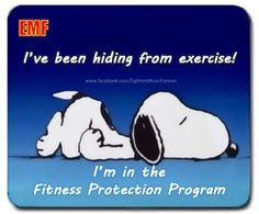funny cartoon pictures with captions | funny cartoon snoopy hiding from exercise fitness protection program