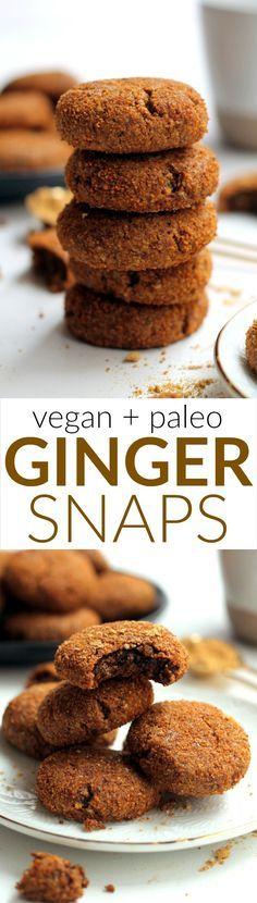 Healthy Vegan Ginger Snap Cookies | Hummusapien