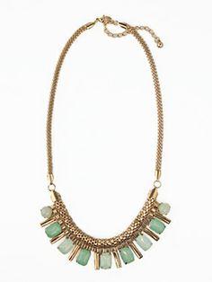 Mint Oasis Necklace-mint fashion jewelry necklace, unique fashion jewelry necklace, pretty fashion jewelry necklace, designer inspired fashi...