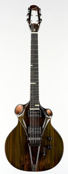 Kouai guitar by Thierry Andre, 2014. One of two