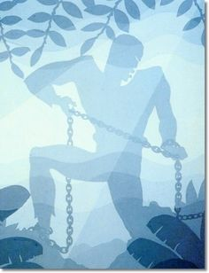 Aaron Douglas was an African-American painter and graphic artist who played a leading role in the Harlem Renaissance of the This one is called 'Birth of the Blues' African American Artist, African American History, African Art, American Artists, American Women, Black Panthers, Harlem Renaissance Artists, Black Artwork, Afro Art