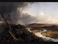 Hudson River School ~ Thomas Cole ~ View from Mount Holyoke, Northampton, Massachusetts, after a Thunderstorm ~ 1836 ~ Olieverf op doek ~ x 193 cm. ~ The Metropolitan Museum of Art, New York American Art, Landscape Paintings, Landscape Artist, Metropolitan Museum Of Art, Romanticism, Art Movement, Landscape Art, Hudson River School Paintings, American Artists