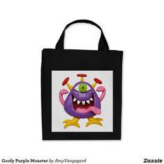 Goofy Purple Monster Tote Bag