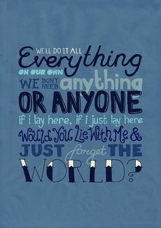 Chasing Cars by Snow Patrol. one of my all-time fav. songs