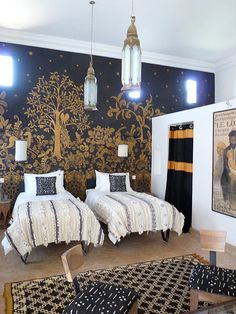This Moroccan style bedroom makes sharing a room with your sibling seem just fine.