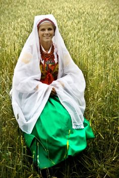 Regional costume from Wilamowice, Poland.