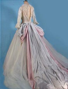 """1950s """"Colonial Style"""" Designer Wedding Gown (back)"""