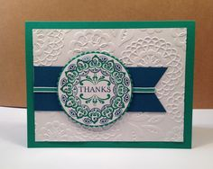 Card tutorials, craft tips, and Stampin' Up products Handmade Thank You Cards, Beautiful Handmade Cards, Daydream Medallions, Homemade Books, Card Making Tutorials, Card Maker, Stampin Up Cards, Your Cards, Cardmaking