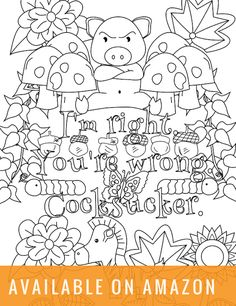 Screw You Ashole A Swear Word Coloring Book