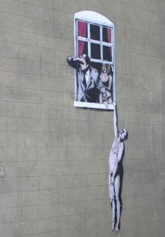Banksy is one of my favourite graffeti artists, I love visting Bristol cause this particular one is 5mins from where I stay, on the wall of the Art College :D