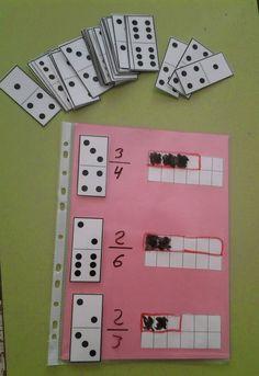 Perfect for comparing fractions. Fraction Activities, Math Resources, Math Games, Math Activities, Fraction Games, Math Classroom, Kindergarten Math, Teaching Math, Montessori Math