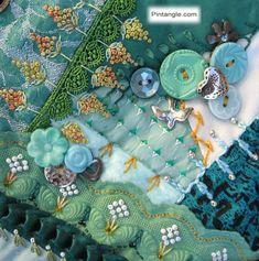 ❤ =^..^= ❤    Crazy quilt block 90