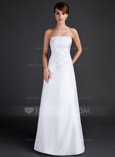 Evening Dresses - $138.99 - Sheath/Column Strapless Floor-Length Taffeta Evening Dress With Lace (017015667) http://jjshouse.com/Sheath-Column-Strapless-Floor-Length-Taffeta-Evening-Dress-With-Lace-017015667-g15667