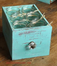 Upcycled Drawer, use it as drink caddie!  CeCe Caldwells Santa Fe Turquoise REDOUXINTERIORS.COM FACEBOOK: REDOUX