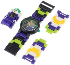 LEGO Kids' 9001239 DC Universe Super Heroes Joker Plastic Minifigure Link Watch by LEGO -- Awesome products selected by Anna Churchill