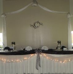 love the lights with tulle