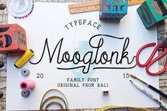 Mooglonk Font + Badges & Brush by alit_design on Creative Market