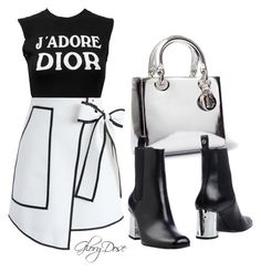 """""""fashion"""" by chichimia on Polyvore featuring Christian Dior, Chicwish and Gucci"""