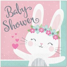 Lil Bunny Baby Shower Lunch Napkins (16)
