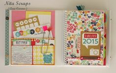 Agenda 2015 Scrapbook Paper, Crafts, Day Planners, Manualidades, Handmade Crafts, Craft, Crafting