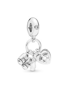 Pandora Sterling Silver My Little Baby Drop Charm Jewelry & Accessories - Bloomingdale's Pandora Charms, My Little Baby, Baby Bottles, Charm Jewelry, Heart Charm, Belly Button Rings, Charmed, Sterling Silver, Personalized Items