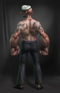 POPEYE_BACK by LeeRomao - Lee Romao - CGHUB via PinCG.com