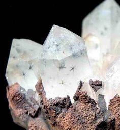 Rare Star Hollandite Quartz Cluster / Madagascar