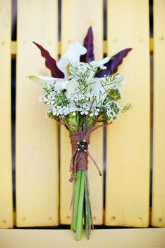 Bouquets were small and sweet in this Callistoga wedding ... Photography by oncestudio.com