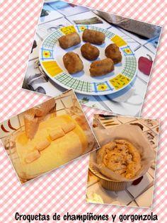 Croquetas de champiñones y gorgonzola para #Mycook http://www.mycook.es/receta/croquetas-de-champinones-y-gorgonzola/