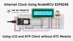 Internet Clock, Internet Time, Esp8266 Projects, Iot Projects, Esp8266 Wifi, Wifi Password, Time Clock, Arduino