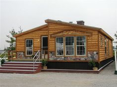 Cabin-Style Modular Homes: The Pre-Built Log Homes Log Cabin Modular Homes, Log Cabin Mobile Homes, Log Homes, Tiny Homes, Mobile Home Redo, Mobile Home Makeovers, Mobile Home Living, Remodeling Mobile Homes, Home Remodeling