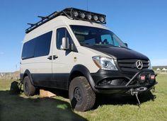Warn Industries at Overland Expo West 2016 Mercedes Sprinter Camper, Camping Car Sprinter, Benz Sprinter, 4x4 Van, 4x4 Camper Van, Off Road Camper, Surf Bus, Mercedes Van, Vw Lt