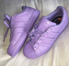 Lilac Purple Adidas Supercolor Sneakers