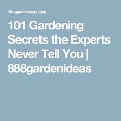 101 Gardening Secrets the Experts Never Tell You | 888gardenideas