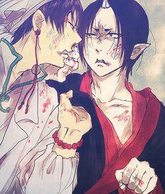 Hoozuki no Reitetsu Fan Anime, Asian Love, Manga Comics, Touken Ranbu, Fujoshi, Animation, Fan Art, Cartoon, Illustration
