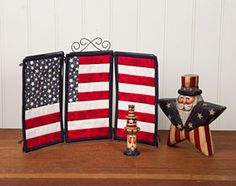 Free Quilt Pattern: American Flag Triptych Pattern Download