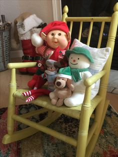 Yule Log, Elf On The Shelf, Shelves, Chair, Holiday Decor, Furniture, Home Decor, Shelving, Decoration Home